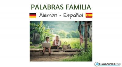 Vocabulario de la familia en alemán y español