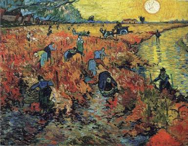 Arte 'Viñedo rojo- Vicent Van Gogh'