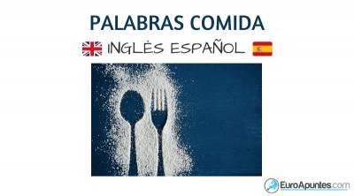 Vocabulario comida alimentación inglés español