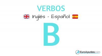Los verbos con B en inglés y español
