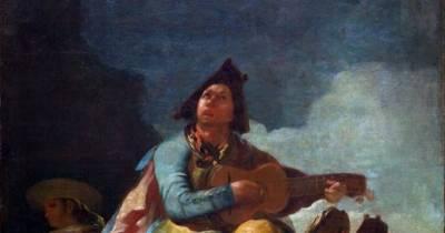 .: Francisco de Goya: El majo y la guitarra - PINTORES ARAGONESES