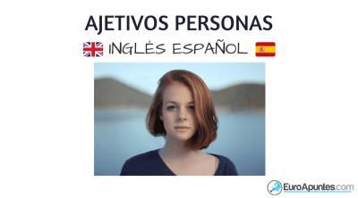 Nuevo vocabulario adjetivos personas inglés español