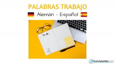 Vocabulario del trabajo en alemán