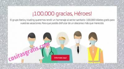 100.000 Vuelos Gratis Para Personal Sanitario Y Residencias
