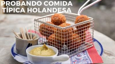 Probando Comida Típica Holandesa
