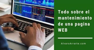 Todo lo que necesitas saber para contratar el mantenimiento de una pagina WEB