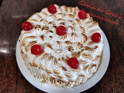 Tarta de almendra y merengue