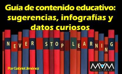 Guía de contenido educativo: sugerencias, infografías y datos curiosos