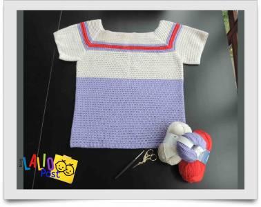 Top tejido a crochet, 'Top Konina'