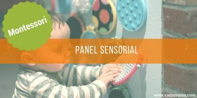 Panel sensorial. Montessori de 0 a 3 años. Área sensible