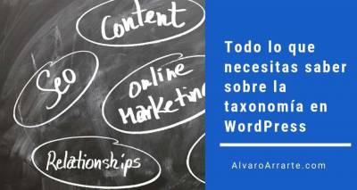 Taxonomía en WordPress, todo lo que necesitas saber