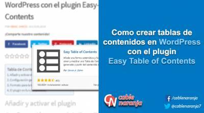 Como crear tablas de contenidos en WordPress con el plugin Easy-Table of Contents