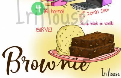 Dibu-receta de brownie de chocolate con nueces