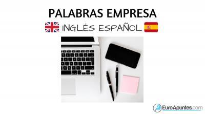 palabras empresa inglés español julio 2020