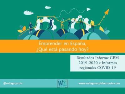 Emprender en España, ¿Qué está pasando hoy? - Milagros Ruiz Barroeta