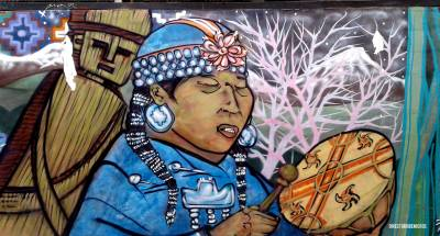 Fotos de viaje: Mural de Mujer Mapuche (Valparaíso)