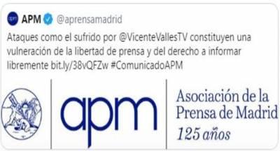 Una asociación de prensa ampara la intoxicación de Vicente Vallés y pone en duda su neutralidad política