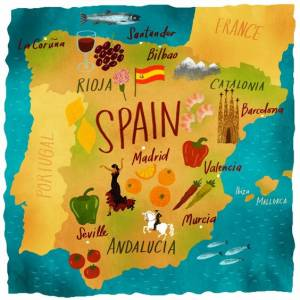 Mapa de España - España viajar con niños