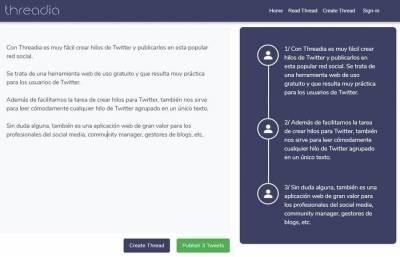Threadia: la forma más simple de crear y leer fácilmente hilos de Twitter