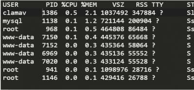 Visualizar los procesos que mas memoria consumen en Linux