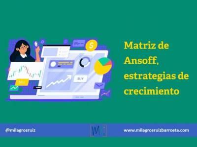Matriz de Ansoff, estrategias de crecimiento - Milagros Ruiz Barroeta