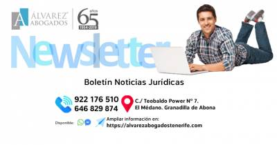 Boletín Noticias Jurídicas | Alvarez Abogados Tenerife