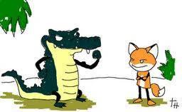 La zorra y el cocodrilo