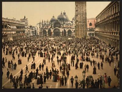 Evocadoras postales de Venecia de la década de 1890
