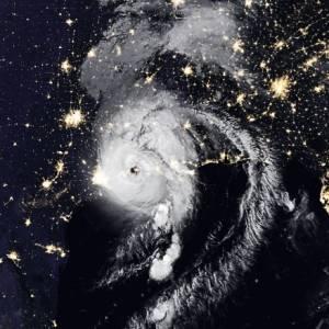 El impresionante Huracán Laura desde el espacio