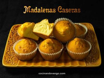 Magdalenas caseras, esponjosas y fáciles | Cocinando Vengo