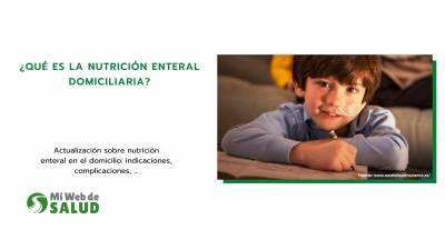 ¿qué Es La Nutrición Enteral Domiciliaria?