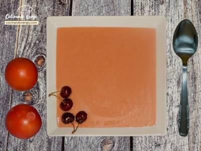 Gazpacho de cereza | Cocinando Vengo