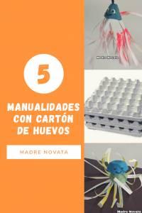 5 Manualidades con cartòn de huevos, actividades infantiles