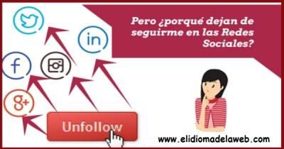 Posibles motivos por los que pierdes seguidores en las redes sociales