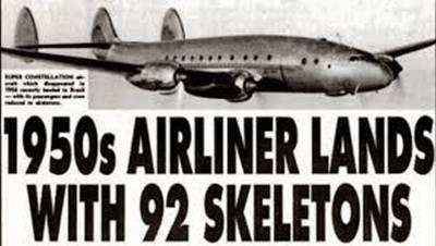 El avión que aterrizó 35 años después con 92 cadáveres