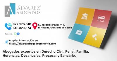 Áreas del Derecho Abogados | Alvarez Abogados Tenerife