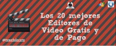Los mejores programas para Editar videos Gratis y de pago