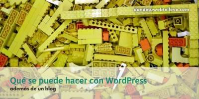 15 Webs que se pueden hacer con WordPress, aparte de un Blog