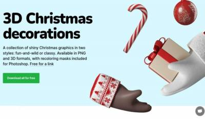 Ilustraciones de Navidad en 3D que puedes usar de forma gratuita