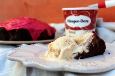 Mis Recetas de cocina y trucos: Helado de dulce de leche con bizcocho de vino