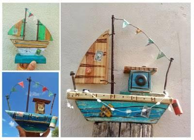 Arte con maderas que flotaron en el mar