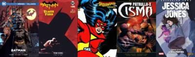 Batman: Yo Soy Gotham, Spiderwoman: Origen, Patrulla-X: Cisma Y Jessica Jones: La Hija Púrpura (Reseñas)
