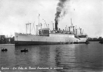 El principio y el fin del transatlántico Cabo de Buena Esperanza