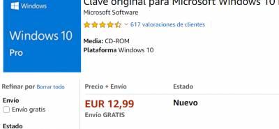Iicencias de Windows 10 pro baratas y legales