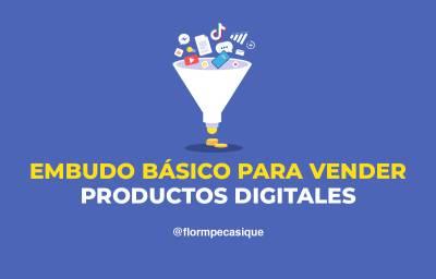≫ Embudo básico para vender productos digitales: cursos online ️