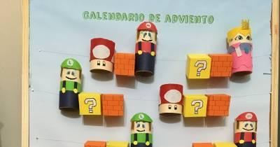 Manualidades infantiles: calendario de adviento ( Mario Bros)