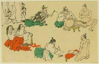 Las competiciones fálicas en el arte japonés