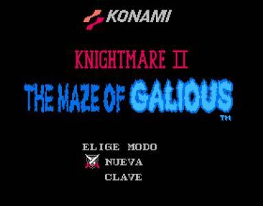 The Maze of Galious (Famicon) traducido al español