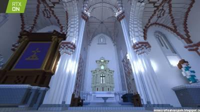 Réplica en Minecraft RTX: Iglesia de Santiago Apostol de Villamoron, Burgos, España