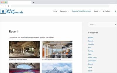 Virtual Backgrounds: directorio de fondos virtuales para videollamadas